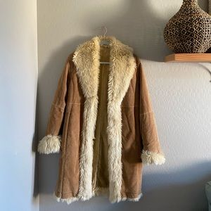 Wilson's Leather suede faux fur coat | S